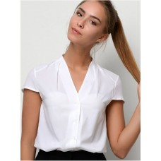 Летняя женская рубашка с коротким рукавом, код 4059