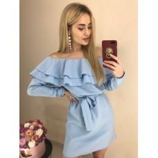 Платье с воланом, код 331