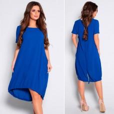 Свободное платье с короткими рукавами, код 210497