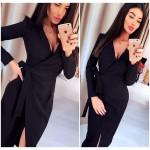 Платье-халат цвета мокко Janett, Код 2413