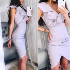 Платье с воланом Leila, код 2425