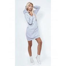 Женское теплое платье толстовка, код 43031
